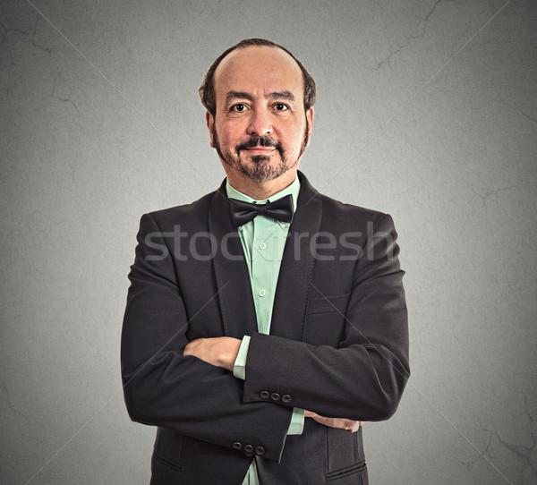 smiling confident mature balding businessman  Stock photo © ichiosea