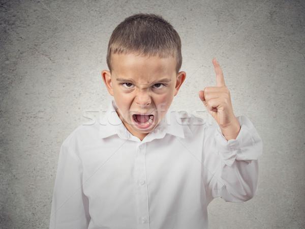 Stockfoto: Boos · jongen · schreeuwen · veeleisende · iets