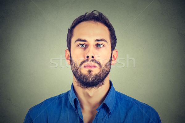 Closeup portrait of a cross-eyed man Stock photo © ichiosea