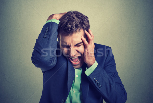 отчаянный деловой человек человека костюм портрет Сток-фото © ichiosea
