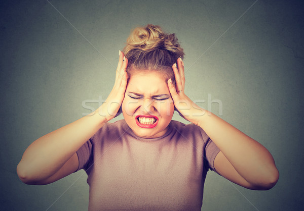 stressed out young woman Stock photo © ichiosea