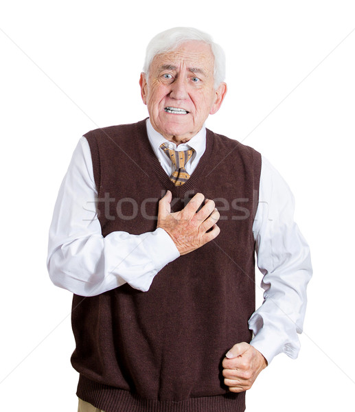 Old man feeling bad Stock photo © ichiosea