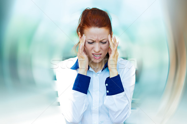 Stressed business woman Stock photo © ichiosea