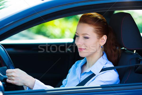 Happy car driver woman smiling  Stock photo © ichiosea
