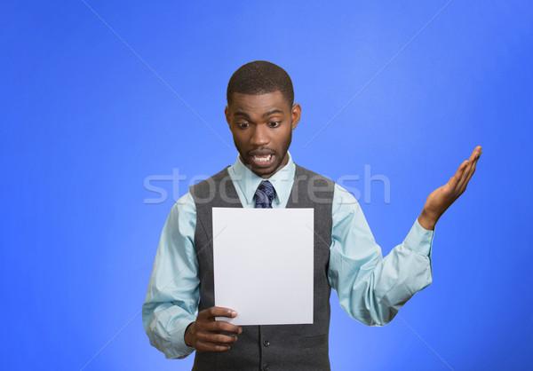 человека бумаги Плохие новости Сток-фото © ichiosea