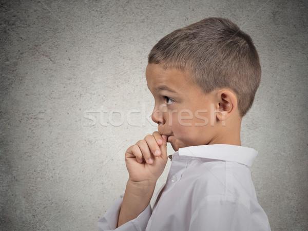 Boy sucking thumb Stock photo © ichiosea