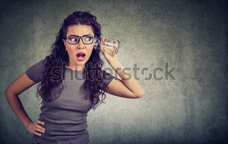 Portrait angry young woman screaming Stock photo © ichiosea