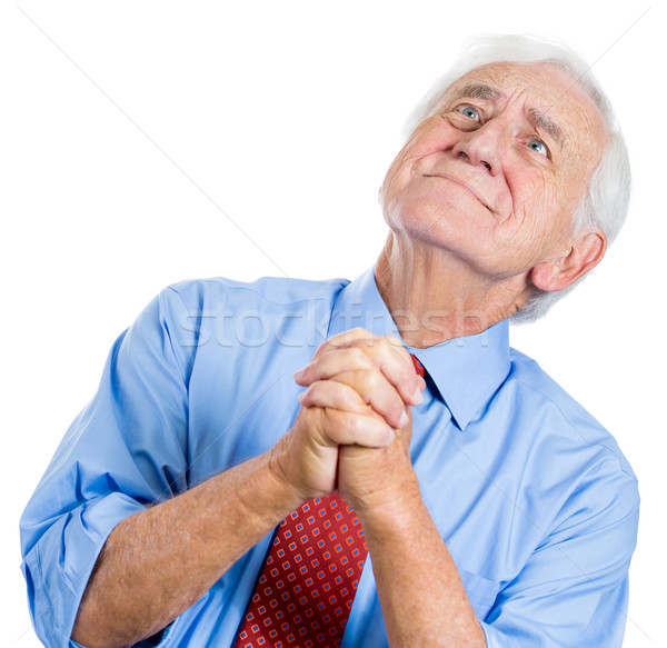 old man pleading  Stock photo © ichiosea