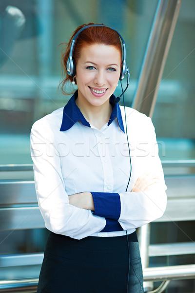 Retrato jovem feliz bem sucedido mulher de negócios Foto stock © ichiosea