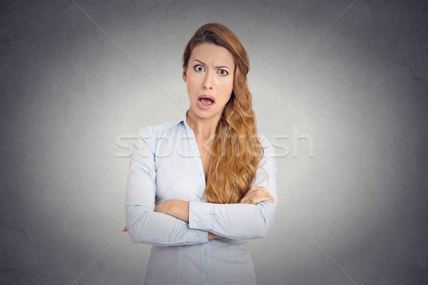angry young woman with disgusted face expression Stock photo © ichiosea