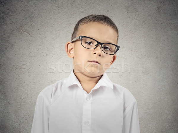Boy with judgmental face expression Stock photo © ichiosea
