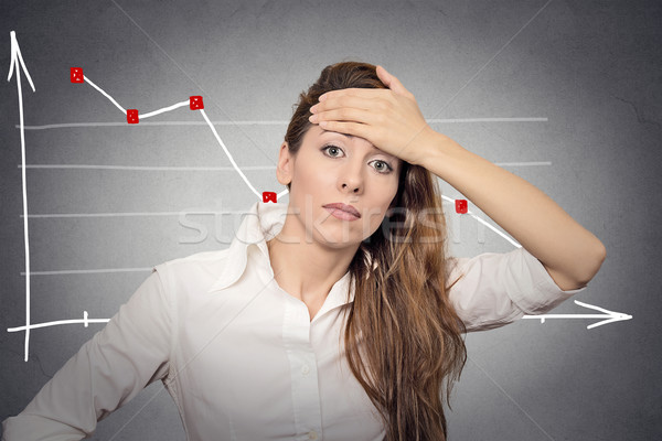 depressed business woman looking stressed Stock photo © ichiosea