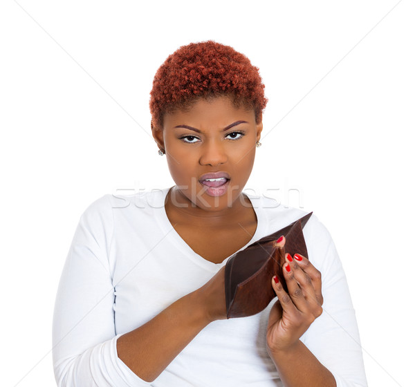 Woman holding empty wallet Stock photo © ichiosea