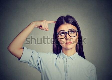 üzlet időbeosztás üzletasszony néz karóra fiatal Stock fotó © ichiosea