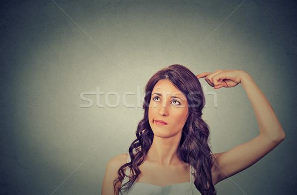 若い女性 頭 思考 空想 ストックフォト © ichiosea