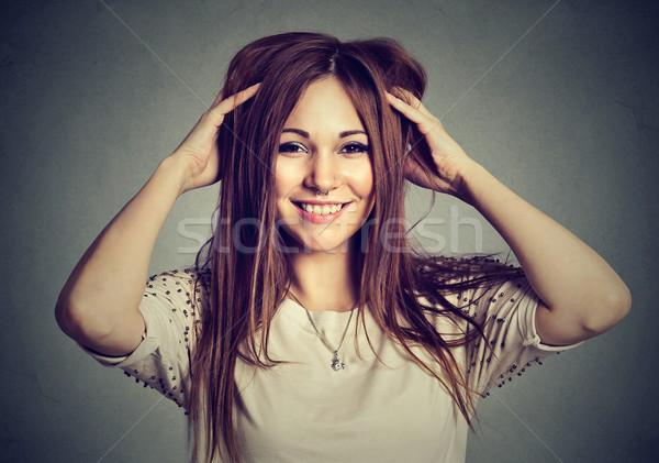 Portrait beautiful pierced young woman  Stock photo © ichiosea