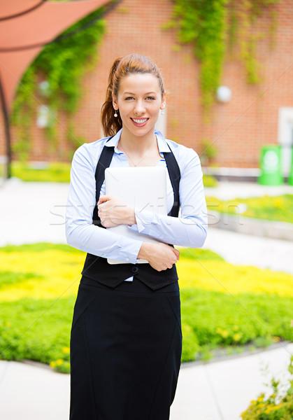 Happy student outdoors Stock photo © ichiosea