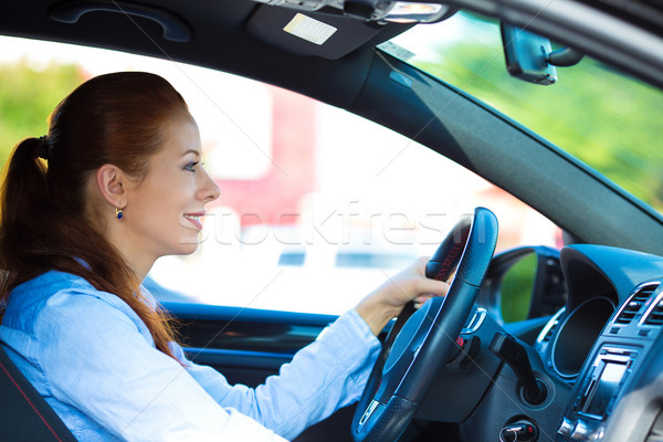 Happy car driver woman smiling  Stock photo © ichiosea