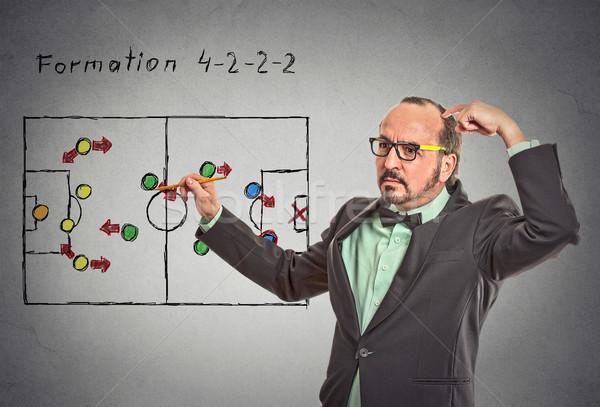 businessman thinking planning on next business plan startegy Stock photo © ichiosea