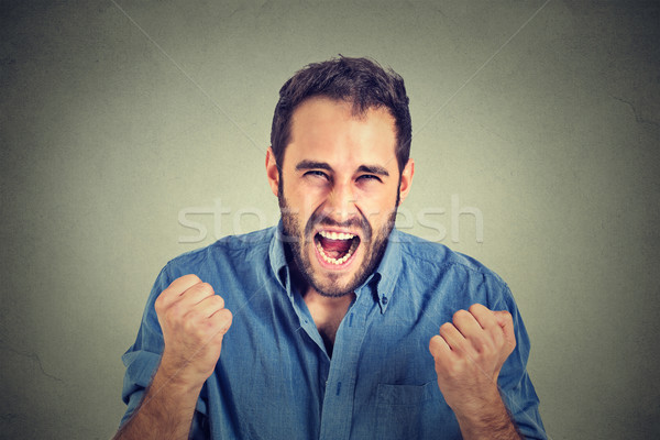 portrait of young angry man screaming  Stock photo © ichiosea