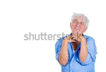 Velho insano retrato idoso louco Foto stock © ichiosea
