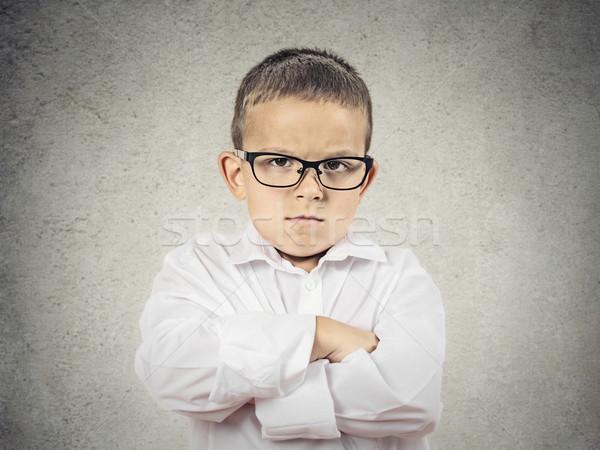 Boos knorrig jongen portret Stockfoto © ichiosea