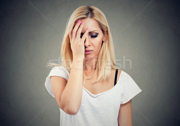 Young blonde woman feeling stressed and hopeless  Stock photo © ichiosea