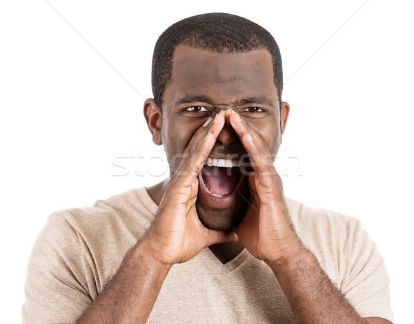 Mad man screaming Stock photo © ichiosea