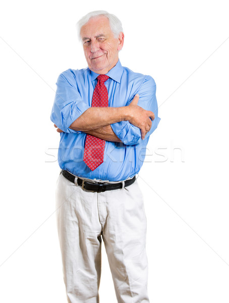 old man with skeptical attitude Stock photo © ichiosea
