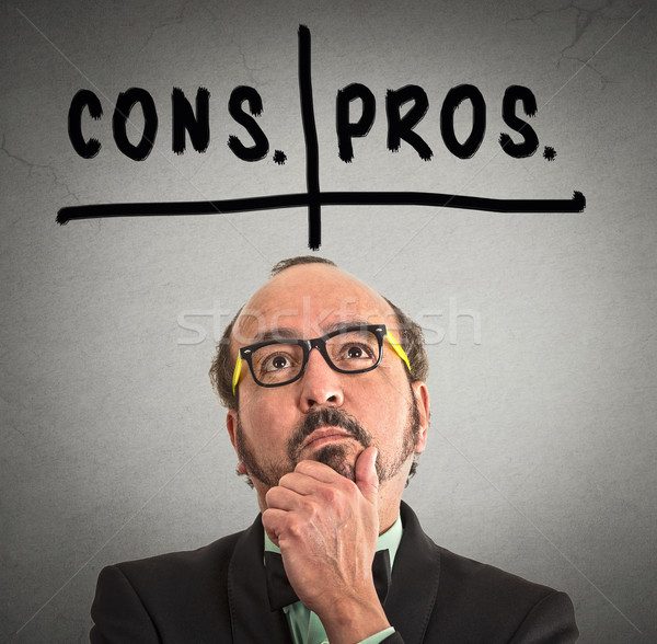 pros and cons, for and against argument concep Stock photo © ichiosea