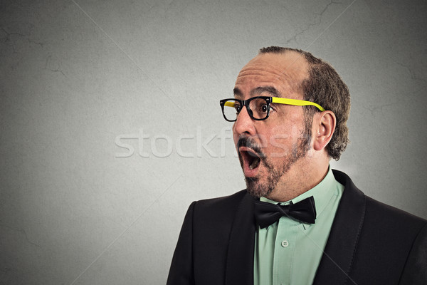 Kant profiel verrassing man portret Stockfoto © ichiosea