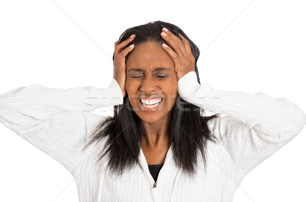 stressed sad middle aged housewife, frustrated woman  Stock photo © ichiosea