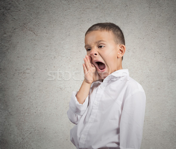 Portrait Tired Child Yawning Stock photo © ichiosea