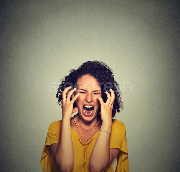 Very angry hysterical woman Stock photo © ichiosea