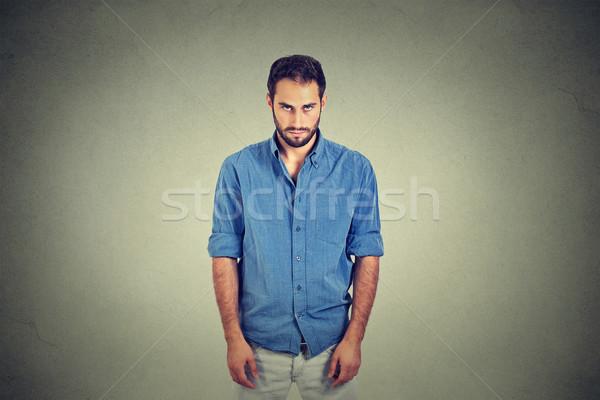 Smutne samotny młody człowiek nie motywacja życia Zdjęcia stock © ichiosea