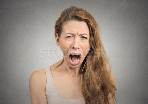 angry upset woman screaming crying Stock photo © ichiosea