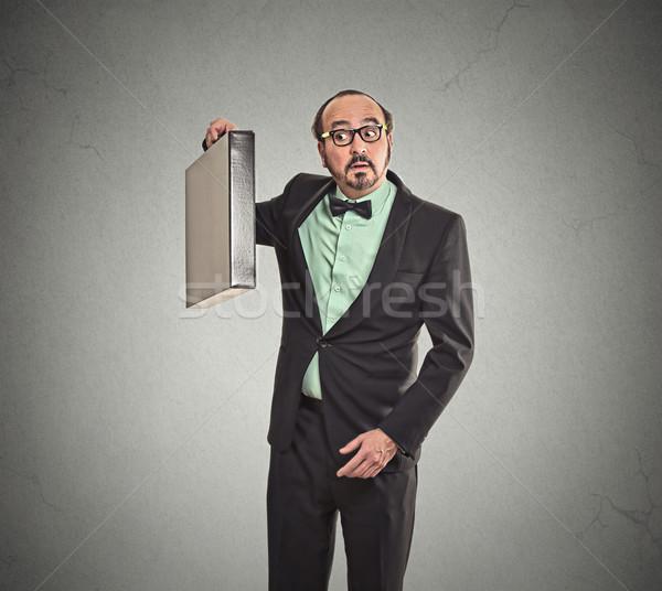 üzletember mi bent új aktatáska kíváncsi Stock fotó © ichiosea
