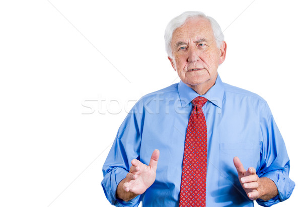 old man trying to convince Stock photo © ichiosea