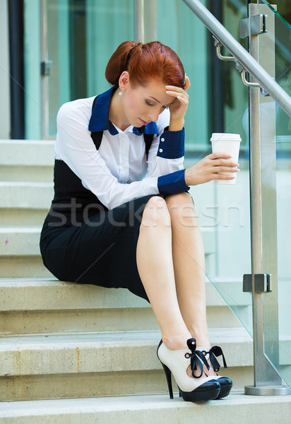 Stressed businesswoman with headache Stock photo © ichiosea