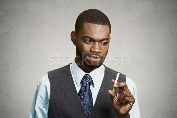 Man craving a cigarette Stock photo © ichiosea