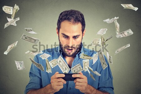Technology online banking money transfer, e-commerce concept. Stock photo © ichiosea