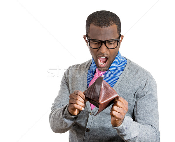 Shocked man holding empty wallet Stock photo © ichiosea