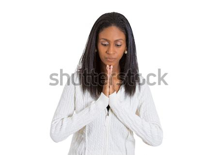 Praying woman isolated on white background  Stock photo © ichiosea