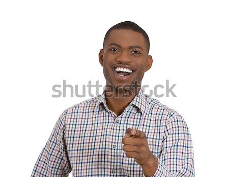 happy man screaming with joy Stock photo © ichiosea