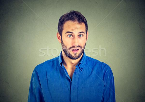 portrait of surprised man Stock photo © ichiosea
