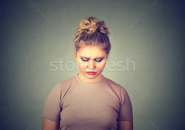Problemi triste donna guardando verso il basso ragazza scuola Foto d'archivio © ichiosea