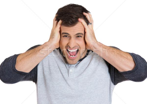 man having head ache Stock photo © ichiosea