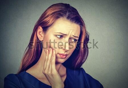 Mal di denti corona problema dolore primo piano Foto d'archivio © ichiosea