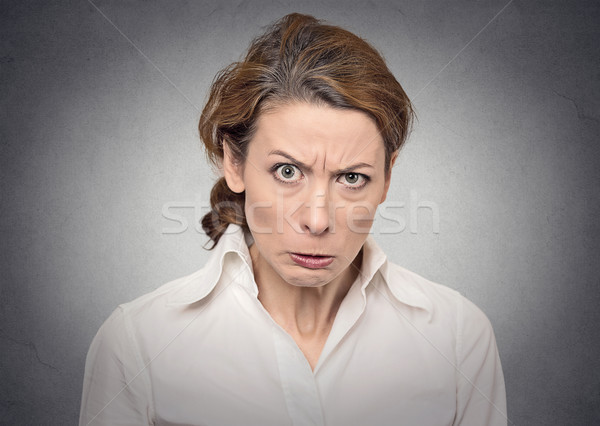 portrait angry woman Stock photo © ichiosea