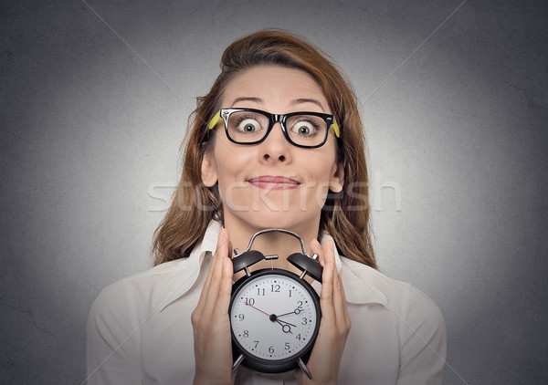 woman with alam clock  Stock photo © ichiosea